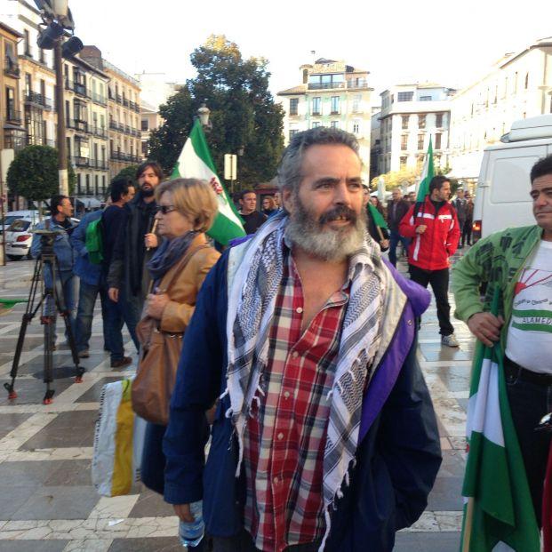 El alcalde de Marinaleda (Sevilla) Juan Manuel Sánchez Gordillo