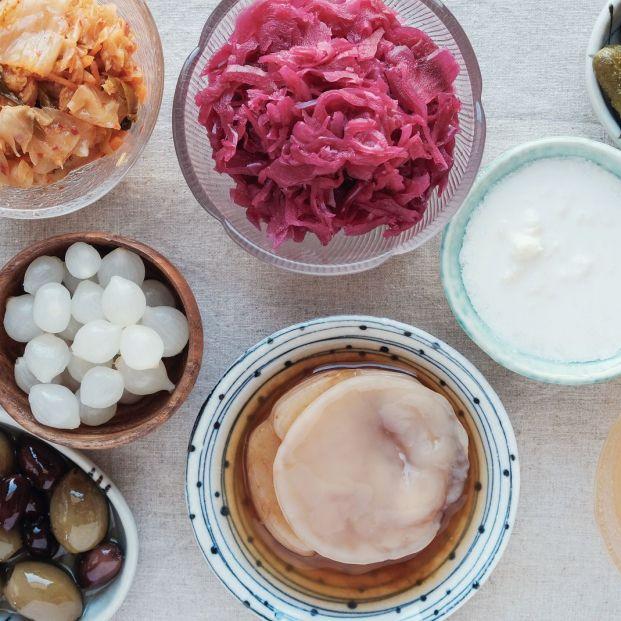 Sigue de cerca los alimentos fermentados