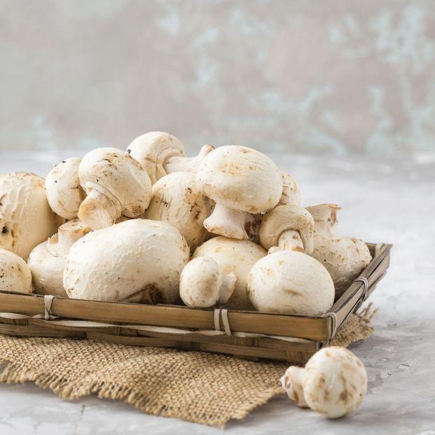 Los champiñones son fuente de proteínas vegetales