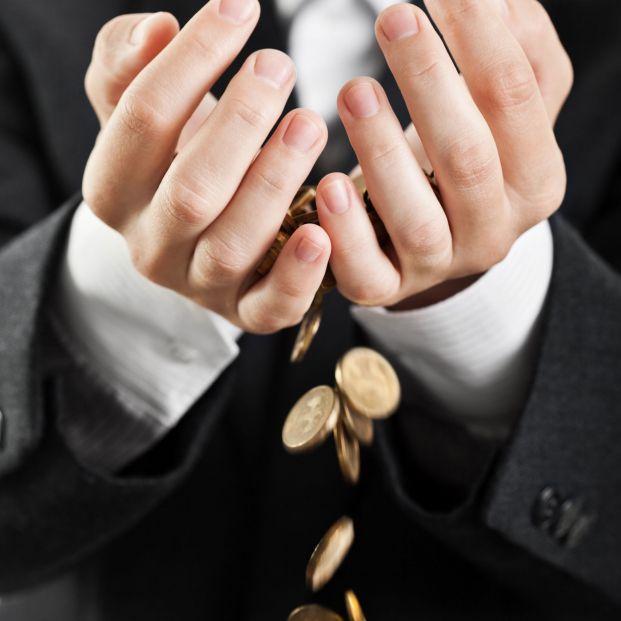 Pérdida de monedas.