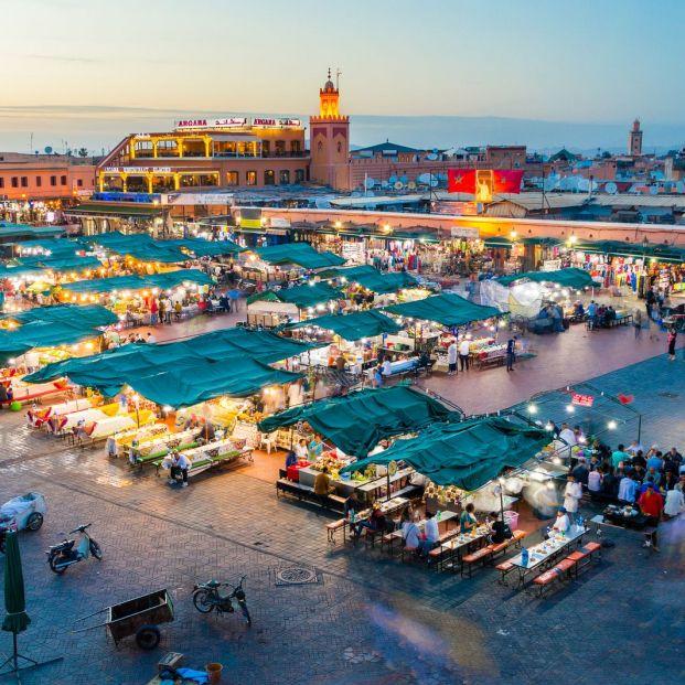 La plaza Jemaa el-Fna de Marrakech (Bigstock)
