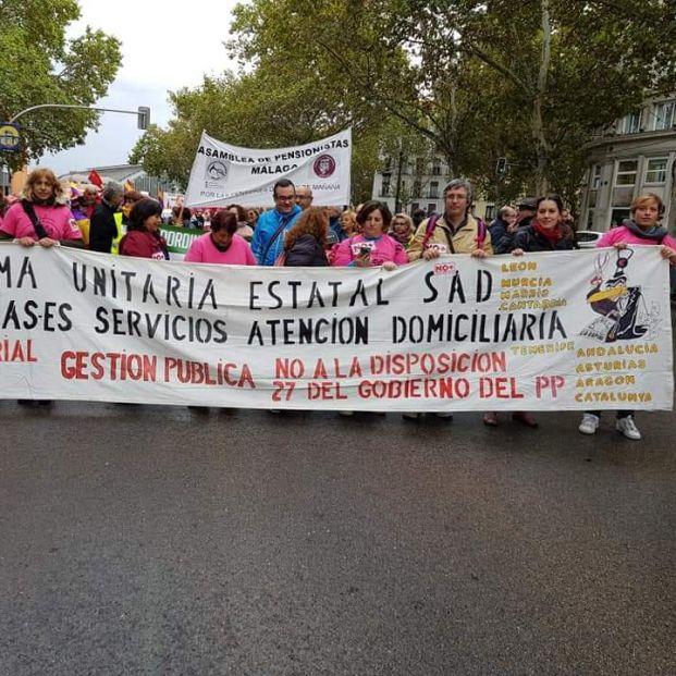 """Las trabajadoras de la Ayuda Domicilio: """"Pedimos la dimisión del Sr. Escrivá"""""""