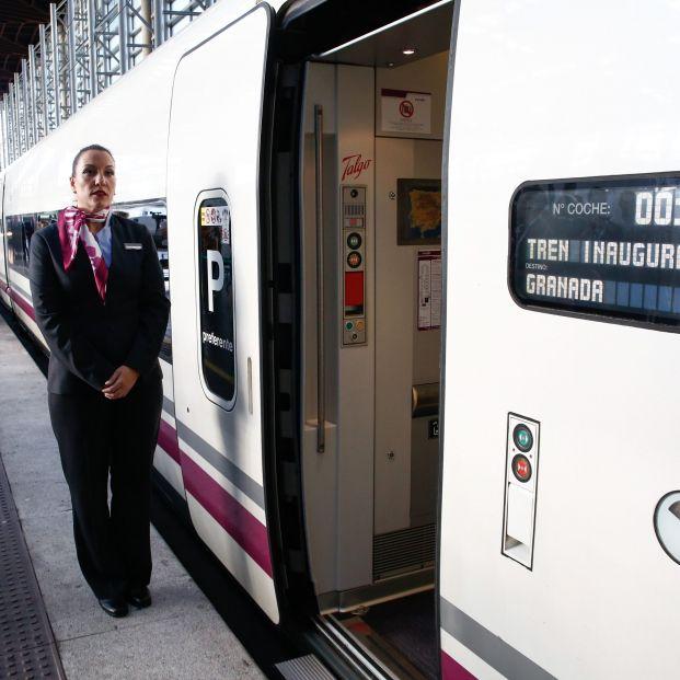 Viaje inaugural del AVE a Granada Salida de la estación de Atocha Madrid