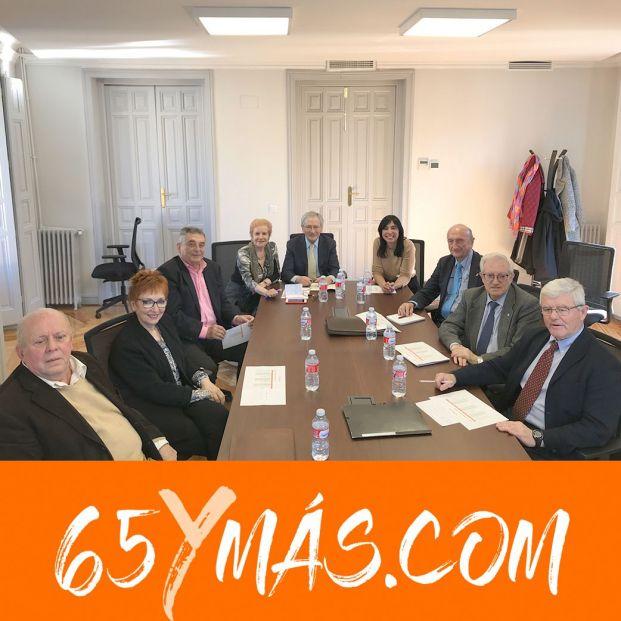 Primera reunión del Comité Asesor de 65ymás. Los mayores no se rinden. Exigen al nuevo gobierno pensiones dignas y soluciones a sus problemas