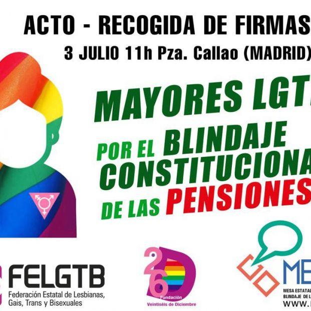 Mayores LGTBI por el Blindaje de las Pensiones