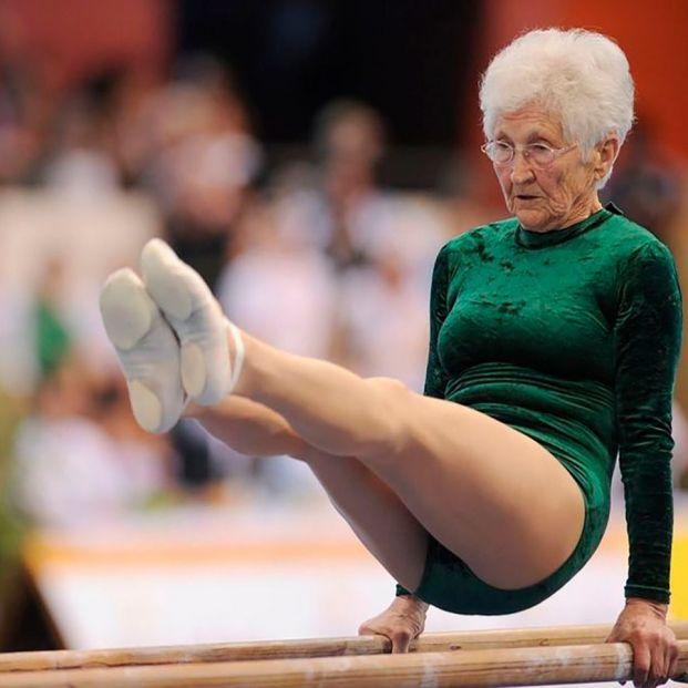 Johanna Quaas, la gimnasta más longeva a sus 93 años