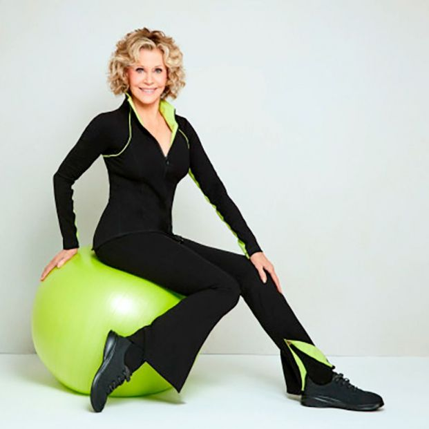 Jane Fonda y su línea de ropa deportiva para mujeres mayores