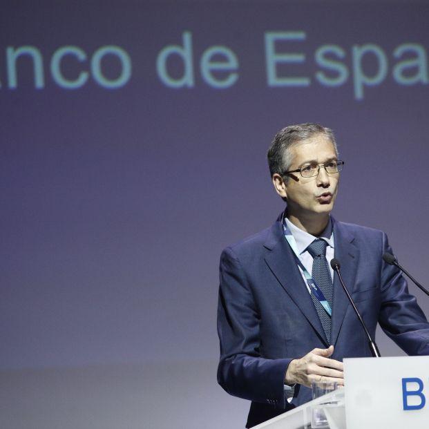 El gobernador del Banco de España Pablo Hernández de Cos durante su intervención en el encuentro Edufin Summit 2019