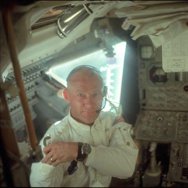 Esto es lo que Aldrin vio al llegar a la Luna