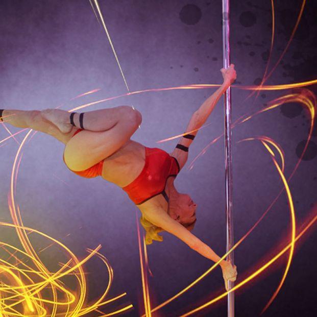 Greta Pontarelli, campeona de pole dance (http://www.aerialzen.com/)
