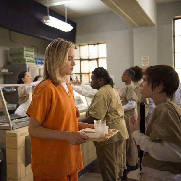 Taylor Schilling en una escena de Orange is the new black