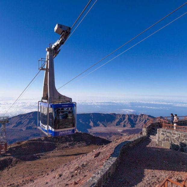 Teleférico en el Parque Nacional del Teide