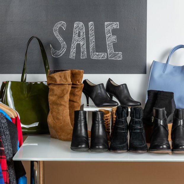 bigstock Shoe shopping sale of shoes an 268776862