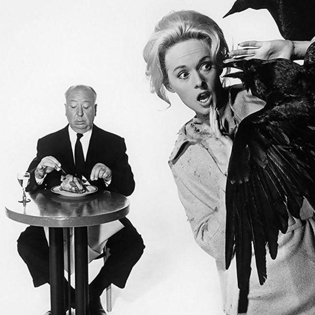 Tippi Hedren y Alfred Hitchcock (Universal)