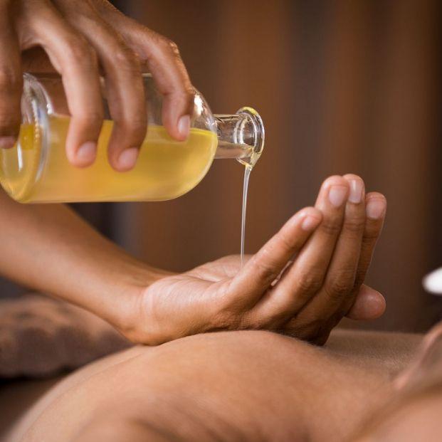 aceite de ricino masaje