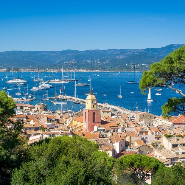 Ciudad vieja de Saint Tropez, en la Costa Azul francesa