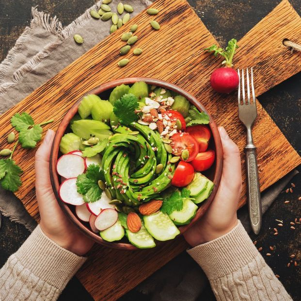 Pirámide de la alimentación vegana