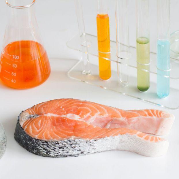 Salmón analizado en laboratorio para medir sus niveles de mercurio tóxico