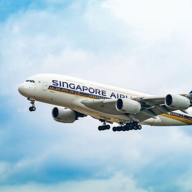 Avión de Singapore Airlines, cuya ruta entre Singapur y Kuala Lumpur es la más transitada del mundo