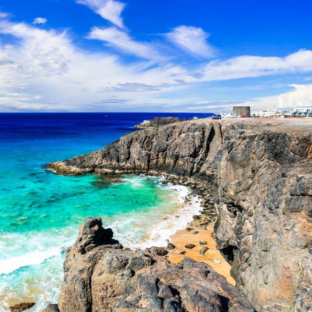 bigstock Fuerteventura  view of rocky  279575719