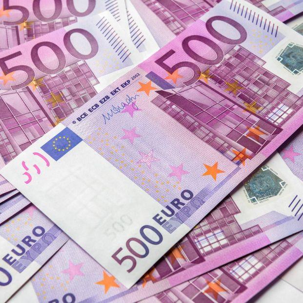 El número de billetes de 500 euros marca mínimos desde 2002