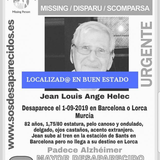 Localizado el anciano de 82 años desaparecido el domingo cuando viajaba en tren de Barcelona a Lorca