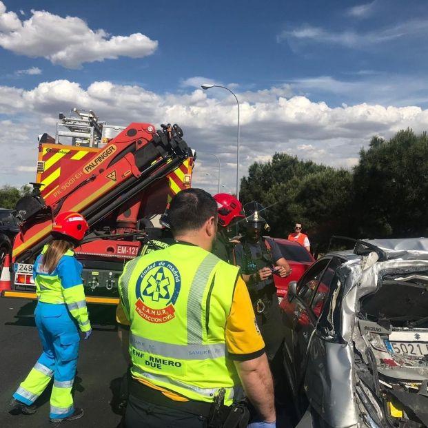 Accidente de tráfico en la M 40