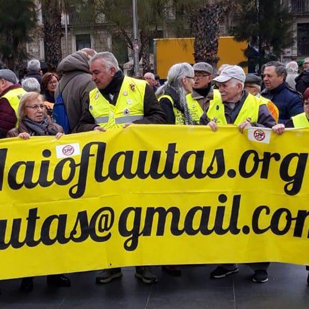 Los yayoflautas en Barcelona