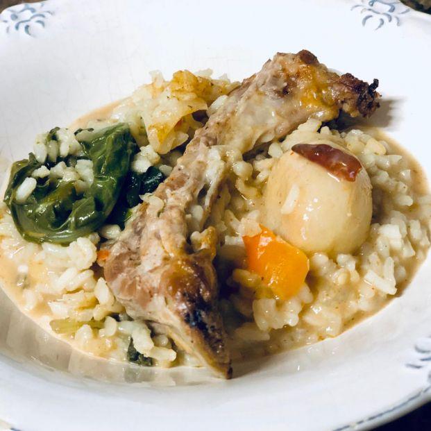 Arroz con costillas y verduras al horno: las recetas de cocina de Eloy Moral
