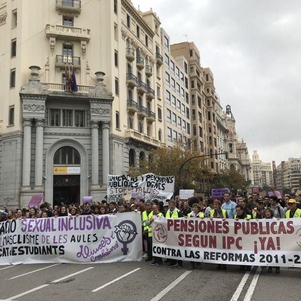 Los pensionistas se manifiestan en Valencia