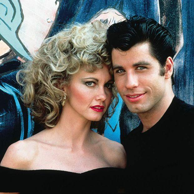 Newton John y Travolta en Grease