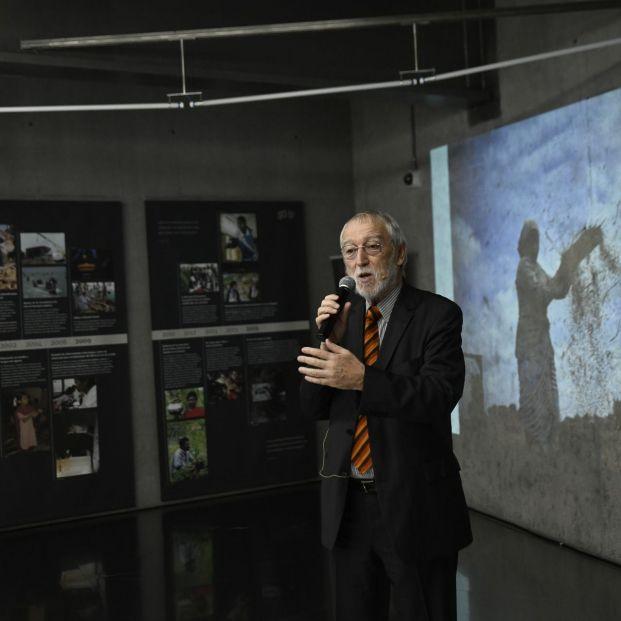 El director general de la Fundación Vicente Ferrer Jordi Folgado Ferrer interviene en la celebración del 50 aniversario de la fundación que dirige en Madrid (España) a 20 de septiembre de 2019