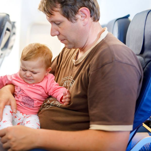 Bebé vuelo, avión