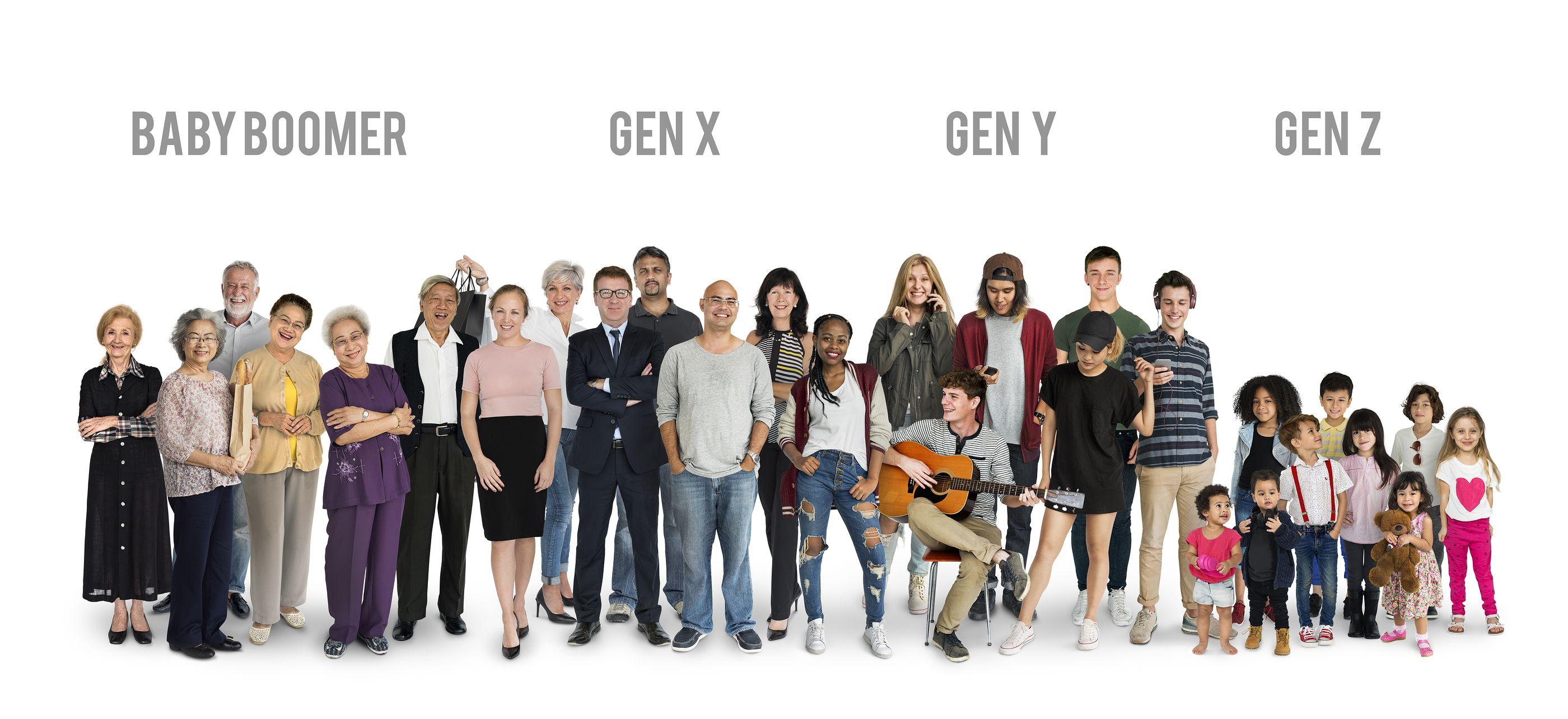 Eres silent, baby boomer, milenial, de la generación X?