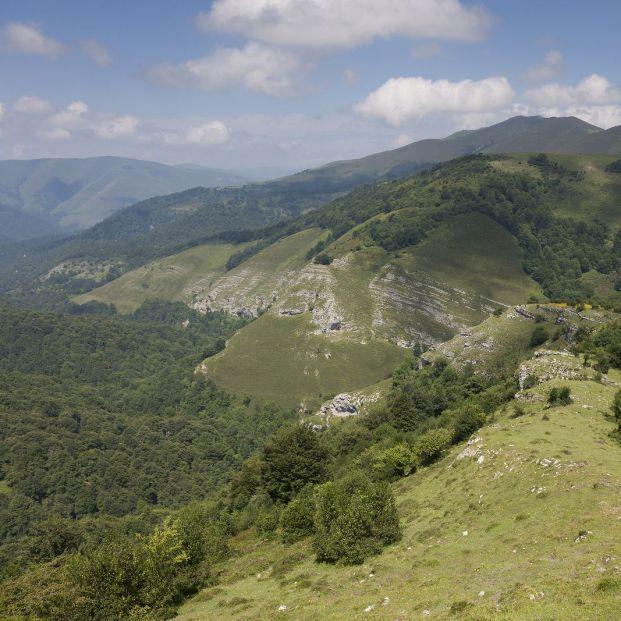 Parque Natural Saja-Besaya en la Cordillera Cantábrica