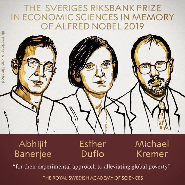 Nobel de Economía 2019 para Banerjee, Duflo y Kremer por sus estudios sobre la pobreza