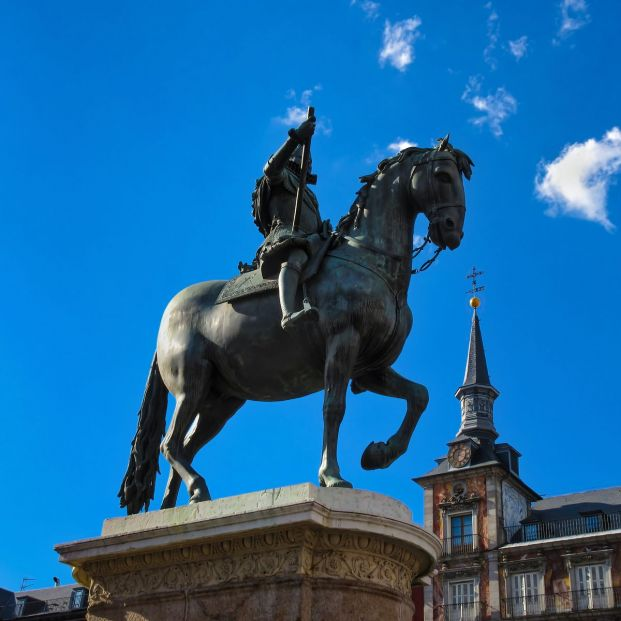 Paseo por las estatuas más emblemáticas de Madrid: estatua ecuestre de Felipe III
