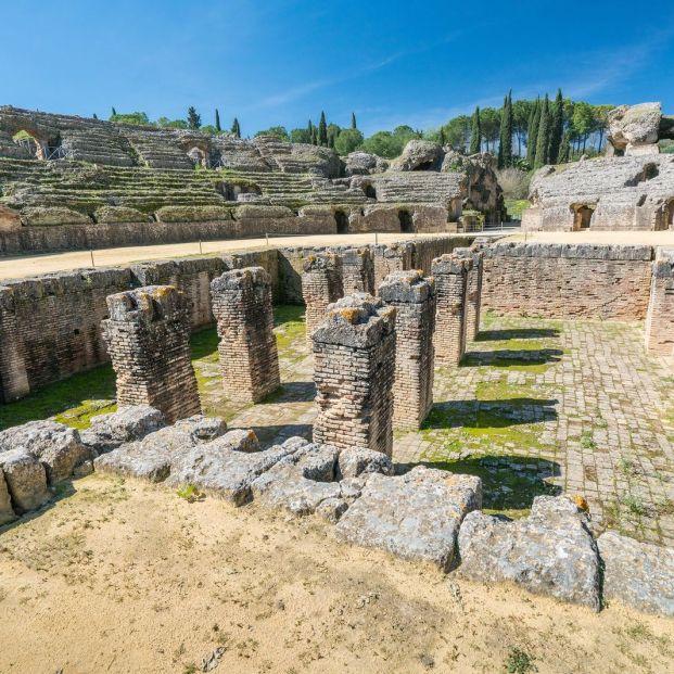 De visita a Itálica, el conjunto arqueológico de origen romano en Sevilla