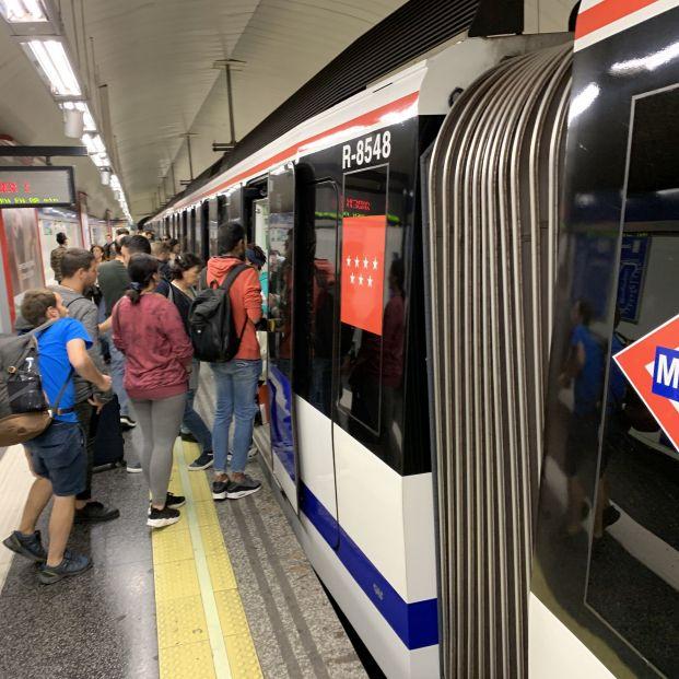 EuropaPress 2405232 Imagen de archivo de un andén de Metro de Madrid