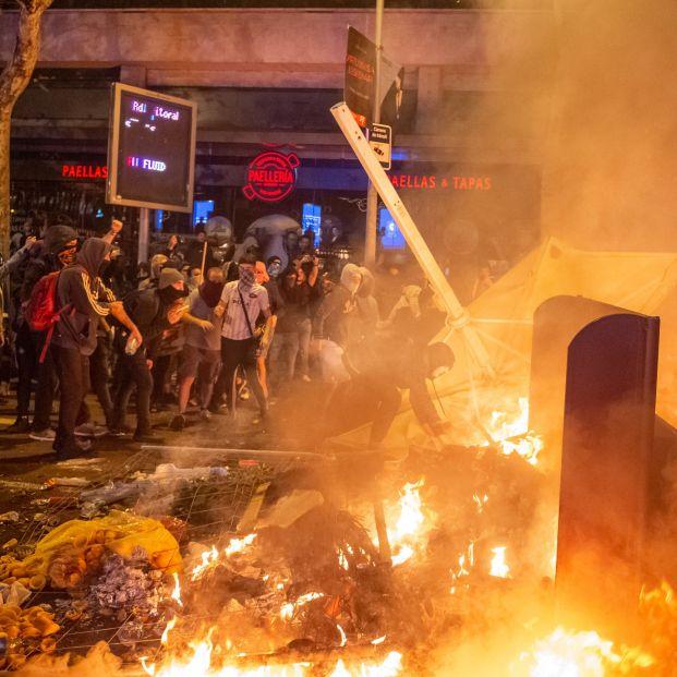 Protestas en Barcelona contra la sentencia del Supremo por el 'procés'
