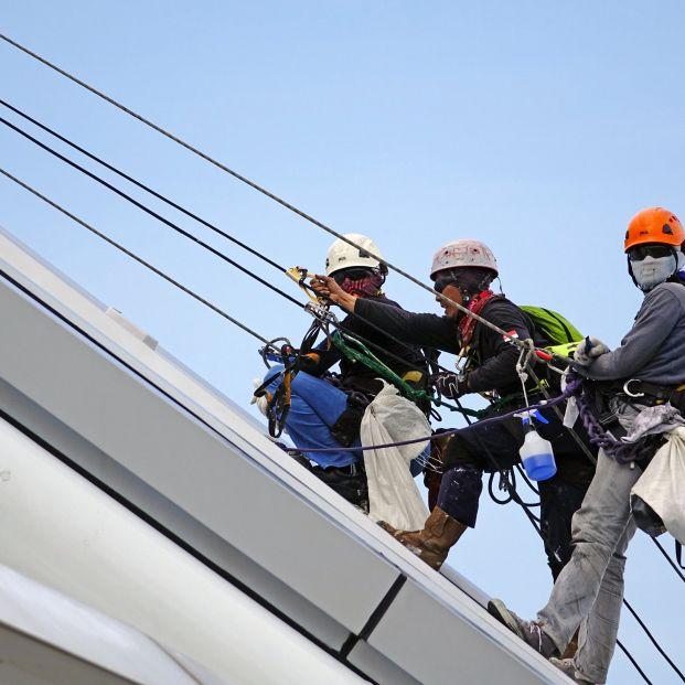 Trabajadores en trabajos de riesgo