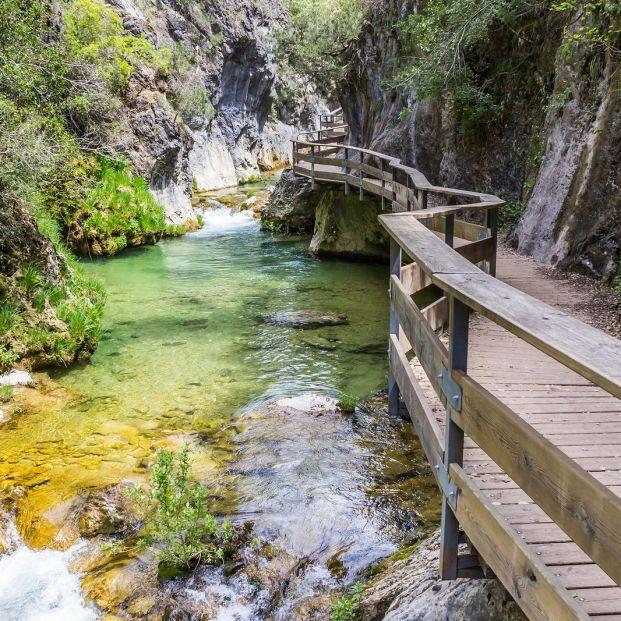 Paso a través de Cerrada en la Sierra de Cazorla