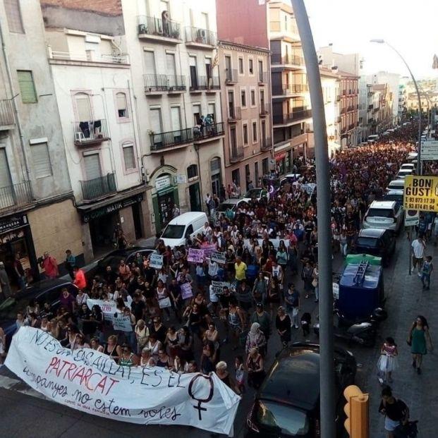 Manifestación en Manresa contra una agresión sexual grupal a una menor