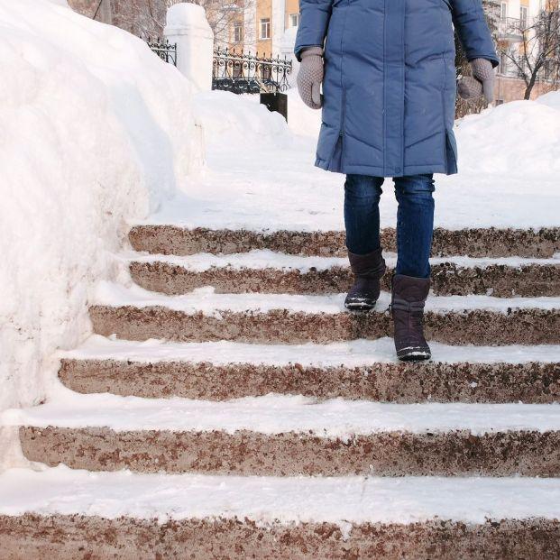 Medidas de protección frente a heladas, cómo caminar