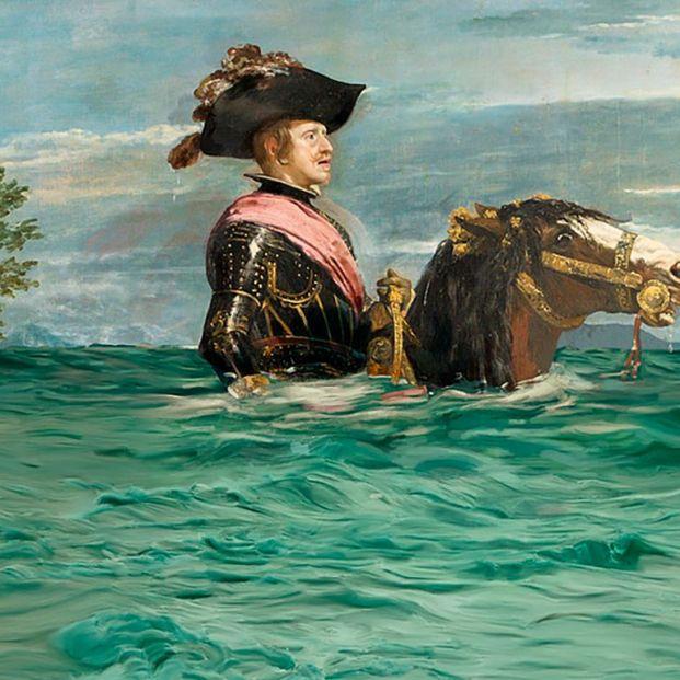 Velazquez inundado: El Museo del Prado y WWF se unen por la Cumbre del Clima