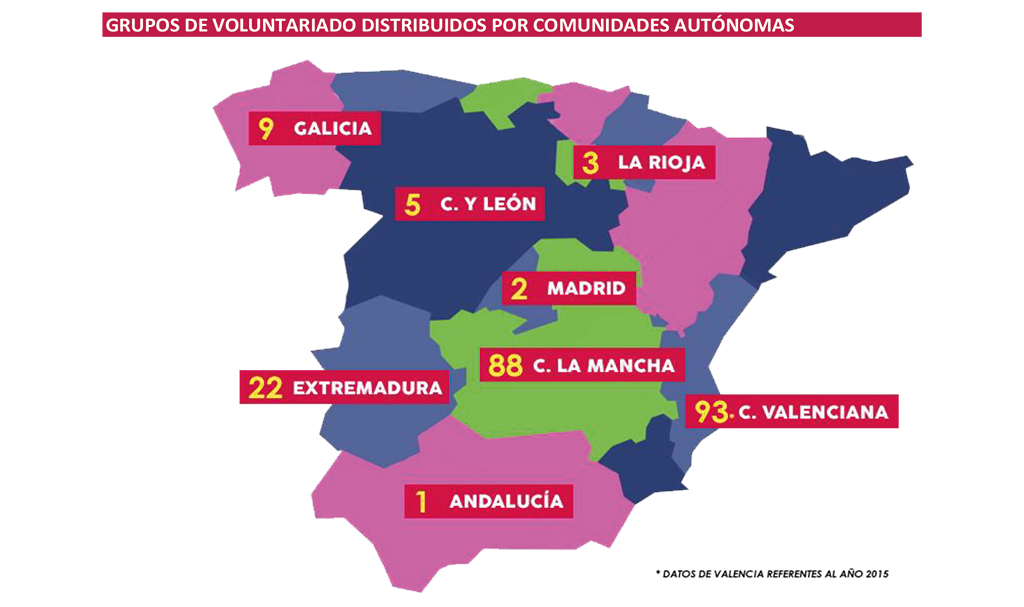 Datos grupos de voluntarios UDP Memoria Voluntariado UDP 2018