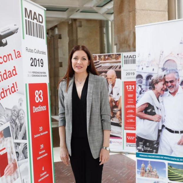 Lola Moreno en la presentación de la nueva edición de las Rutas Culturales 2019