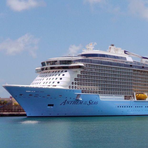 Crucero marítimo atracado en puerto (Creative commons)