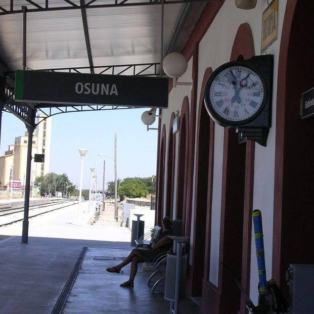 Estación de tren de Osuna, afectada por la supresión de venta física de billetes en taquilla
