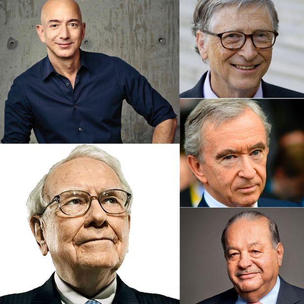 Los cinco más ricos del mundo suman 355 años